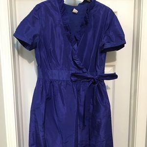 JCrew purple silk bridesmaid dress